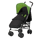 Obaby Atlas Black & Grey Stroller with Black Footmuff/Lime Hood