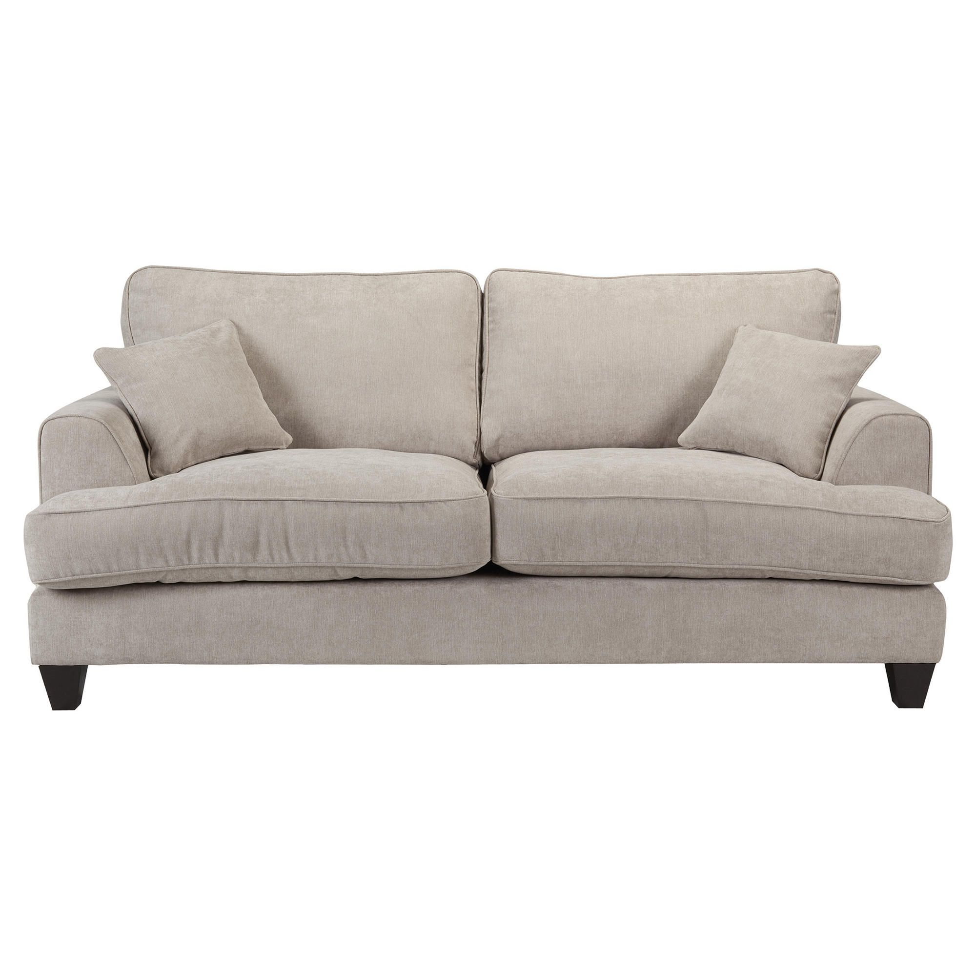 Kensington Fabric Large Sofa Light Grey at Tesco Direct