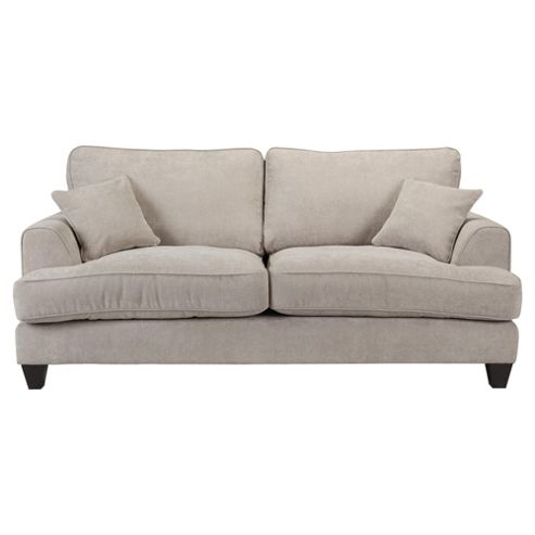Kensington Fabric Large 3 Seater Sofa Light Grey