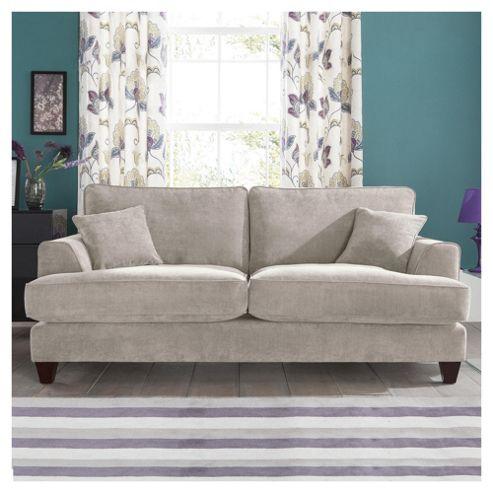 Kensington Fabric Large Sofa Light Grey