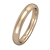 18ct Rose Gold - 3mm Essential Court-Shaped Band Commitment / Wedding Ring -