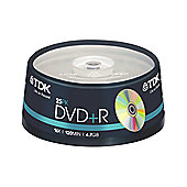 TDK DVD+R 4.7GB 16X SPINDLE OF 25