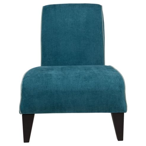 Jules fabric accent chair teal and light blue