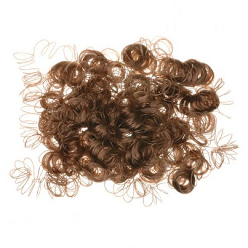 Curly Dolls Hair - Light Brown