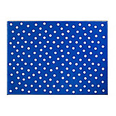 Lorena Canals Dots Deep Blue Children's Rug - 140 cm x 200 cm (4 ft 6 in x 6 ft 6 in)