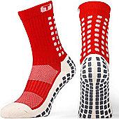 Trusox Mid-Calf Sock Thin - Red