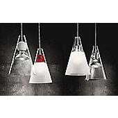 De Majo Gemma Pendant - Clear - Clear Glass Shade - Two Bulbs