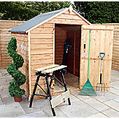 3ft x 6ft Windowless Overlap Apex Shed 3 x 6 Garden Wooden Shed