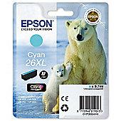 Epson Singlepack Cyan 26XL Claria Premium Ink