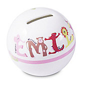 Personalised Pink Animal Money Box