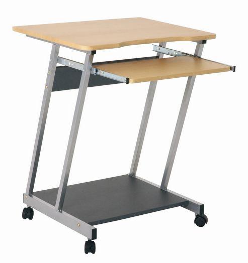 Urbane Designs Pra Computer Desk - Aluminium / Beech