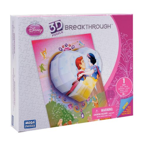 Mega Bloks Breakthrough 3D Puzzle Disney Princess Heart Level 1