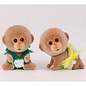 Monkey Twin Babies - Sylvanian Families Baby Figures 5118