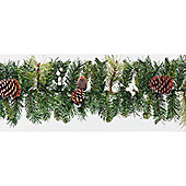 6ft Garland with White Berries & Natural Pinecones