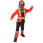 Deluxe Red Super Megaforce Power Ranger - Child Costume 6-7 years