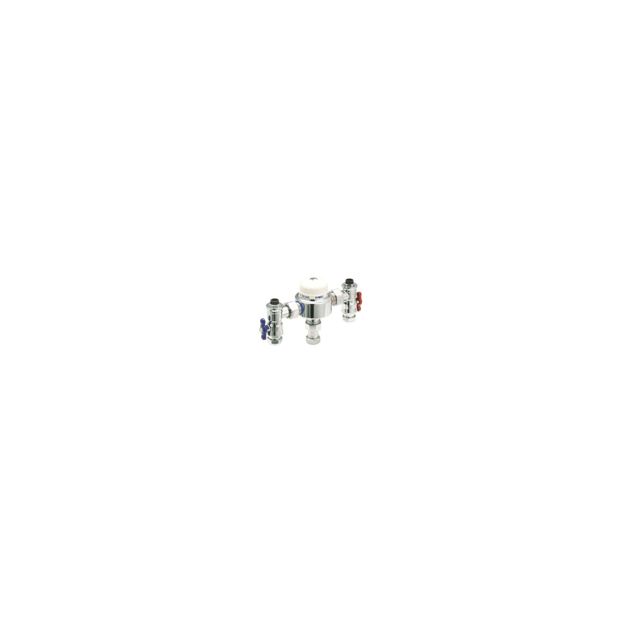 Deva TMV3 Thermostatic Blending / Mixing Valve 22mm with Check Valve Chrome at Tesco Direct