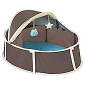 BabyMoov Little Babyni Outdoor Playpen - Taupe/Blue