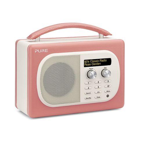 Evoke-Mio DAB/FM Radio in Rose Leather Effect