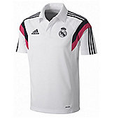 2014-15 Real Madrid Adidas Polo Shirt (White) - White