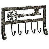 Vintage Key Rack - 5 Hooks