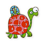 Barnabou Serie Golo Childs Kids Wall Clock Horloge Tortues Tortoise HOR004