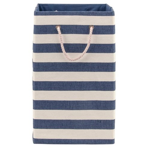 Nautical Canvas Laundry Basket