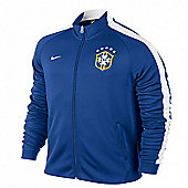 2014-15 Brazil Nike Authentic N98 Jacket (Blue) - Blue