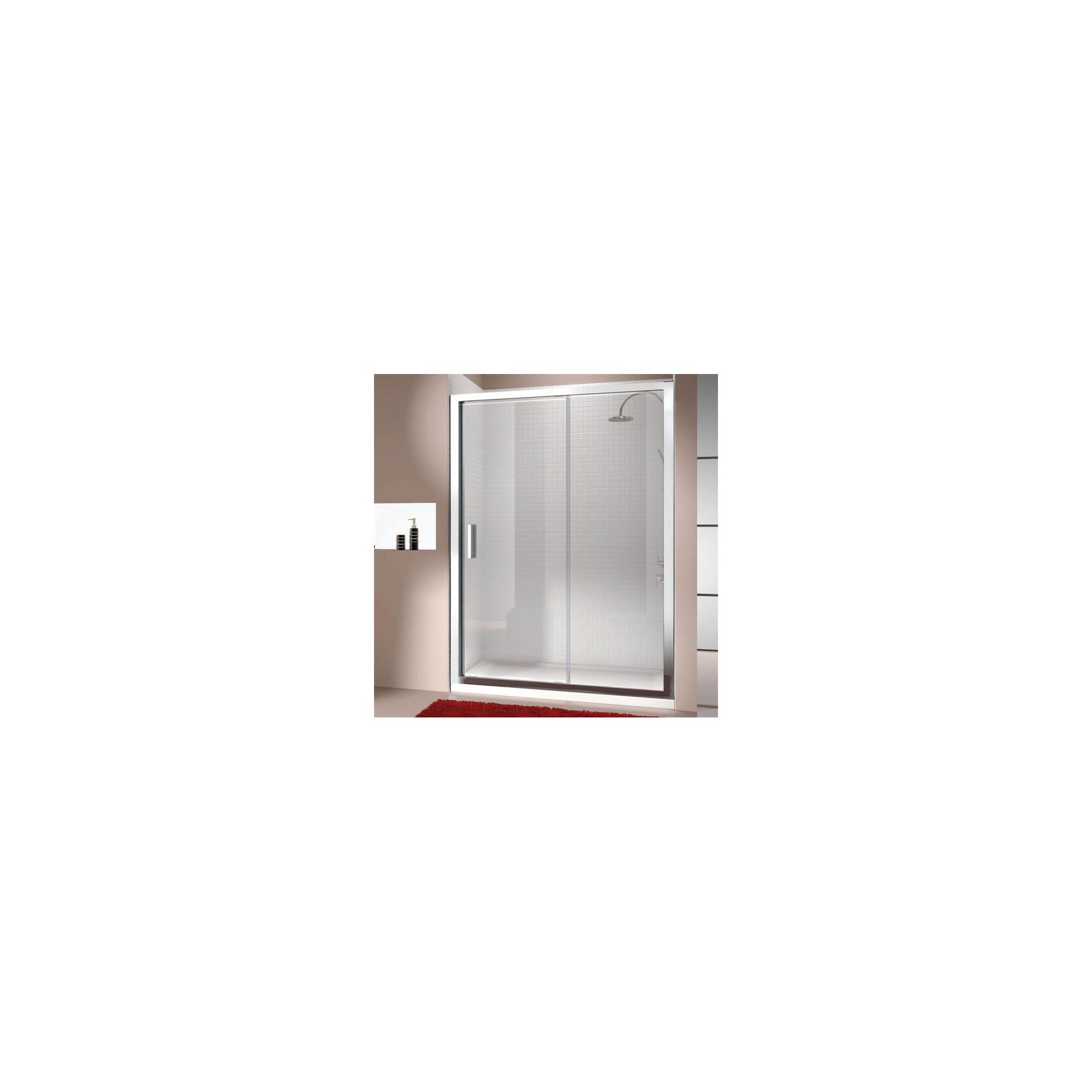 Merlyn Vivid Eight Sliding Door Alcove Shower Enclosure, 1100mm x 800mm, Low Profile Tray, 8mm Glass at Tesco Direct