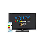 Sharp Aquos LE831 46 inch 3D Quattron HD LCD Television With LED Backlight