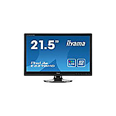 Iiyama ProLite E2278HD (21.5 inch) LED Backlit LCD Monitor 1000:1 250cd/m2 (1920 x1080) 5ms VGA/DVI (Black)
