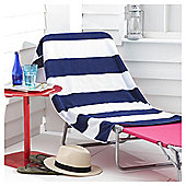 Tesco Navy stripe beach towel