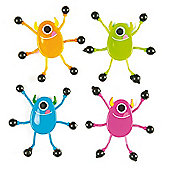 Monster Wall Crawlers for Kid's Toys, Party Bags & Prizes (Pack of 6)