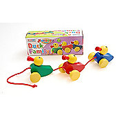 Traditional wood 'n' fun Nursery Toys Pull Along Duck Family 12m+