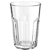 Tesco Soda Tumbler Glass, Clear