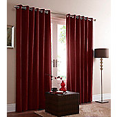 Eclipse Blackout Eyelet Curtains - Red