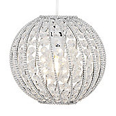 Bead Crystal Ball Ceiling Light Pendant Shade in Clear