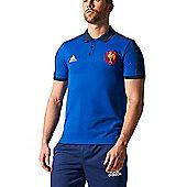 adidas France FFR Essential Polo 15/16 - Blue