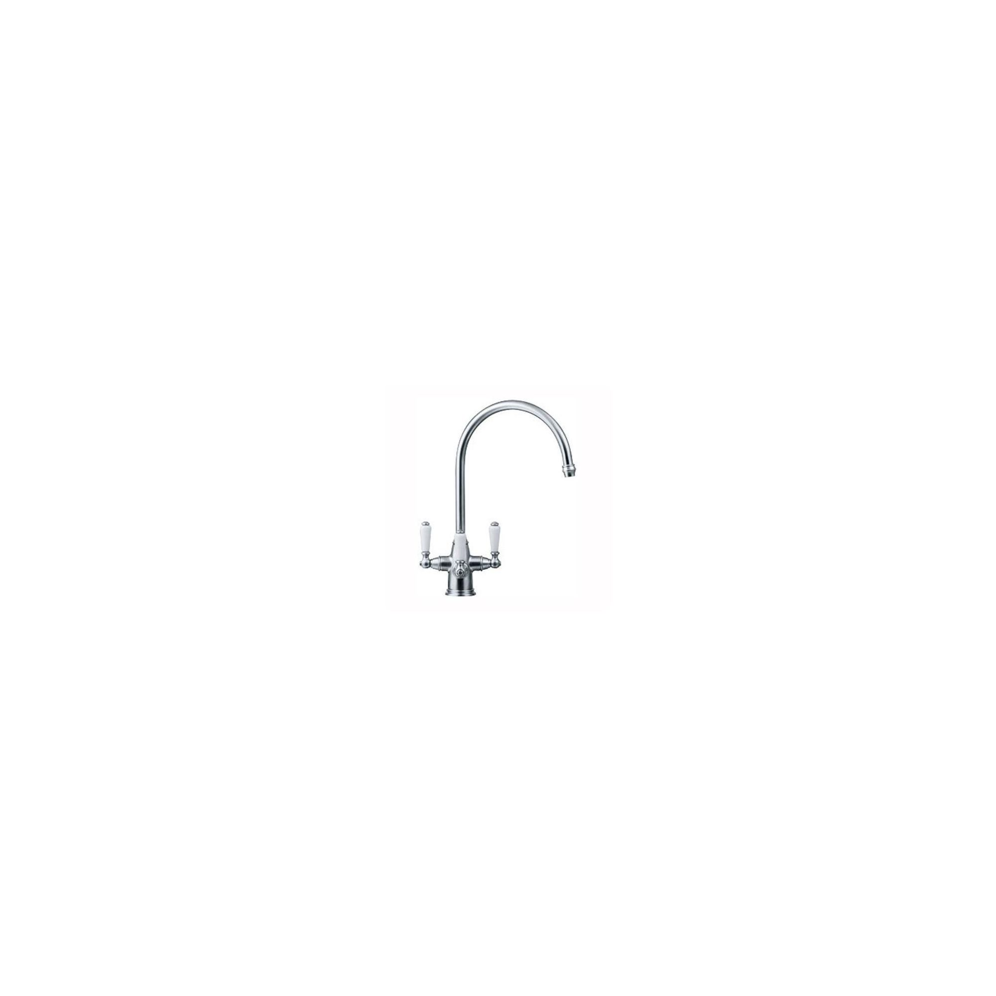 Franke Corinthian Porcelain Handle FilterFlow Kitchen Sink Mixer Tap, Chrome at Tesco Direct