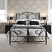 Home Zone Florence Bed - Double - Black