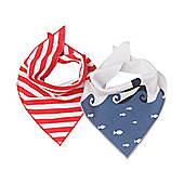 Mothercare Whale Bay Dribbler Bibs - 2 Pack