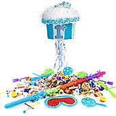 1st Birthday Blue Cupcake Pull Pinata Kit