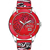 Marc Ecko Gents Red Rubber Patterned Strap Watch E09530G3