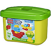 Mega Bloks Create N Play Green Tub Endless Building 70 Pieces