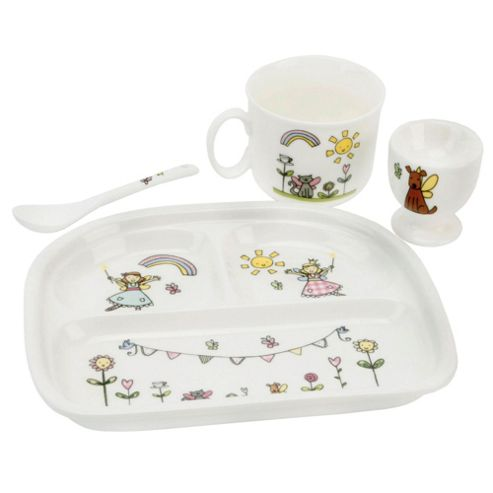 Tess the Fairy Princess 4 piece Ceramic Breakfast Set