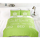 Rapport Keep Calm Single Quilt Set Lime