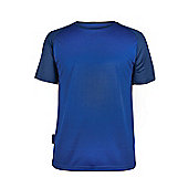 Endurance Short Sleeved Mens Baselayer Round Neck UV Protection Breathable Tee - Blue
