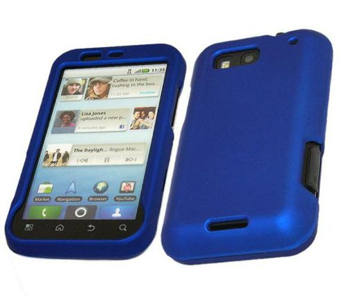 iTALKonline SnapGuard Tough Hard Case Blue - For Motorola Defy MB525