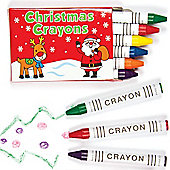 Mini Christmas Crayons for Children - Perfect Stocking Filler (Per 8 packs)