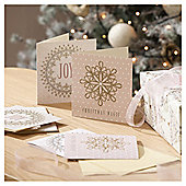 Snowflake and Wreath Christmas Cards, 10 pack