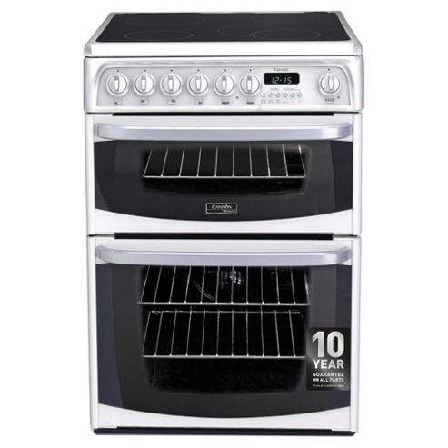 Cannon by Hotpoint CH60EKWS, Freestanding, Electric Cooker,  60cm, White, Twin Cavity, Double Oven